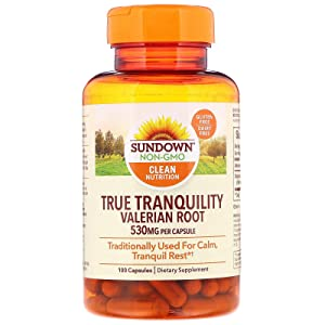 Sundown Naturals Valerian Root 530 mg Capsules - 100 ct, Pack of 4 natural sleep supplements - 71qKPAUWNUL - Natural sleep supplements – top 3 sleep supplements in the market