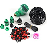 Micro Drip Irrigation Kits,25m Plant Self Watering Garden Hose DIY Irrigation System with Timer Kits,Automatic…