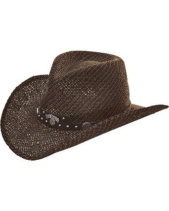 Jack Daniels Men s JD Twisted Toyo Straw Western Cowboy Hat Black ... 942b99c4236