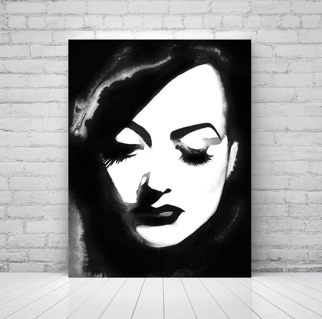 Vintage Hollywood Regency Fine Art Print Glam B&W 1940s Decor