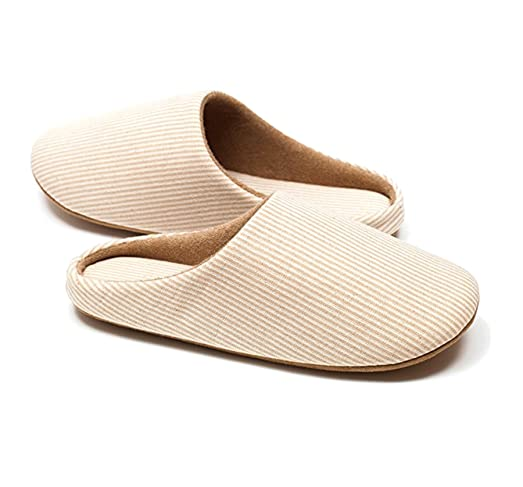 Slippers Soft bottom floor slippers Non-slip indoor slippers Organic Cotton Memory Foam 1 Pair