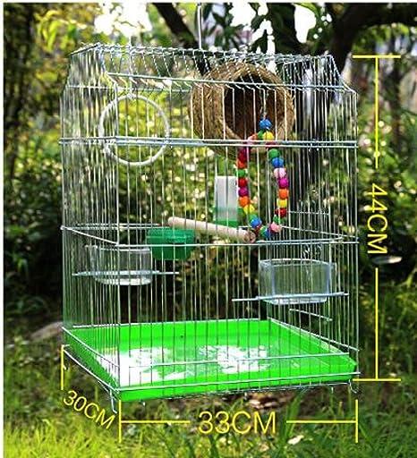 XLF Jaula de pájaros: material de metal para evitar la oxidación ...