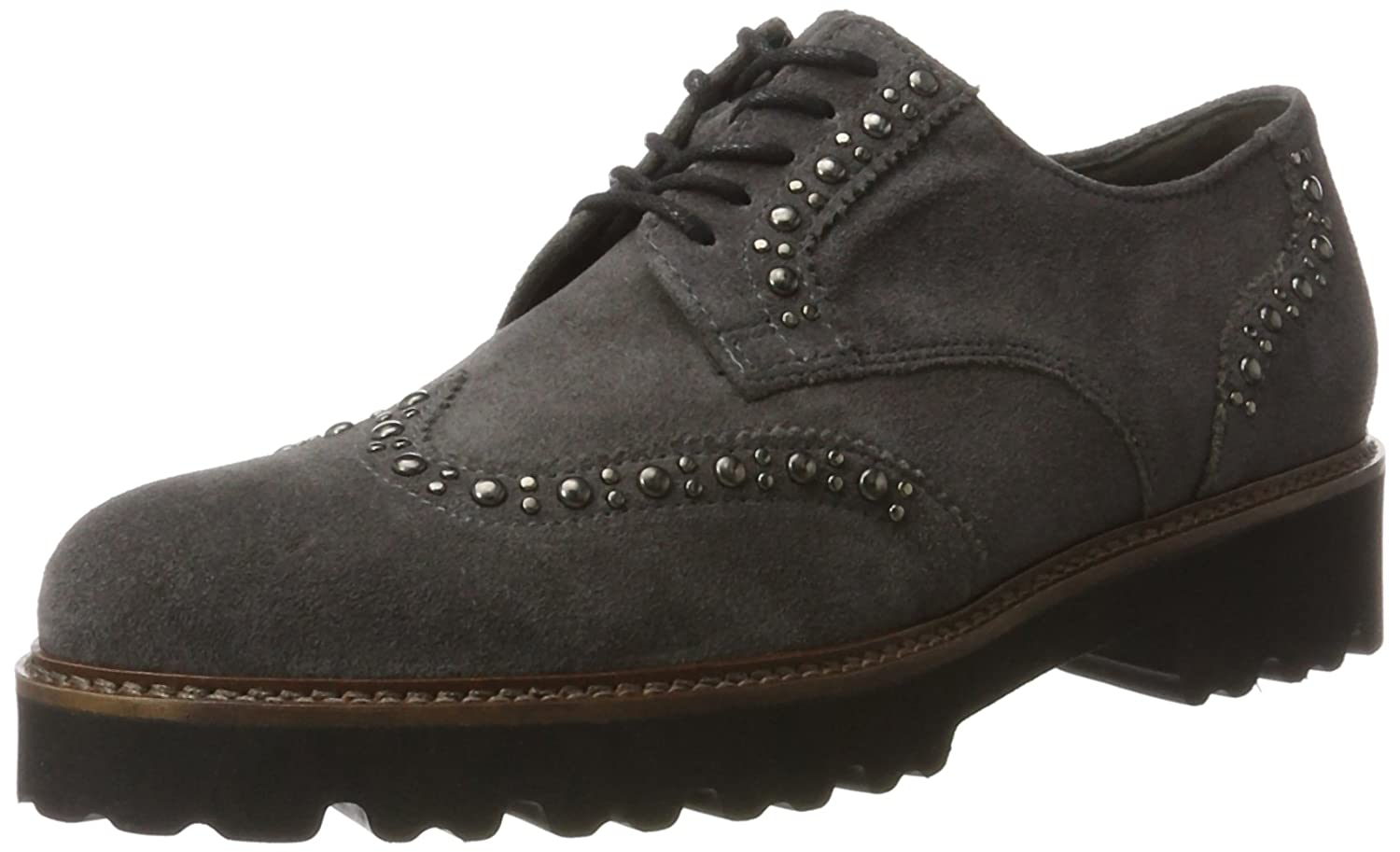 GOODWOOD GABOR CHUNKY Gris LACE GABOR UP SHOE Gris (Pepper UP Cognac) 683eef0 - boatplans.space
