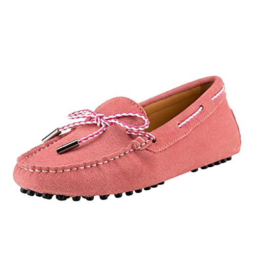 Shenduo Zapatos de cuero - Mocasines cómodos con cordones de moda para mujer D7051: Amazon.es: Zapatos y complementos