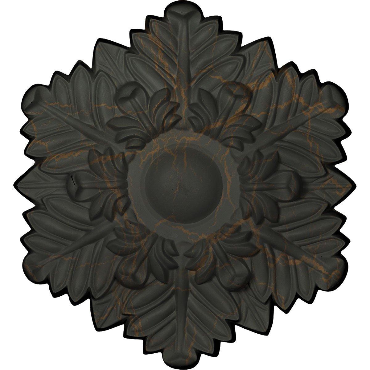 Ekena Millwork CM17BRWHC Bremen Ceiling Medallion, Witch Hazel Crackle