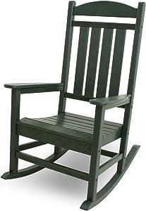 POLYWOOD R100GR Presidential Rocking Chair, Green