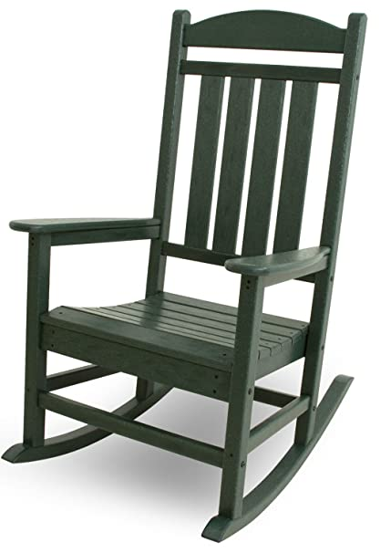 Enjoyable Polywood R100Gr Presidential Rocking Chair Green Pdpeps Interior Chair Design Pdpepsorg