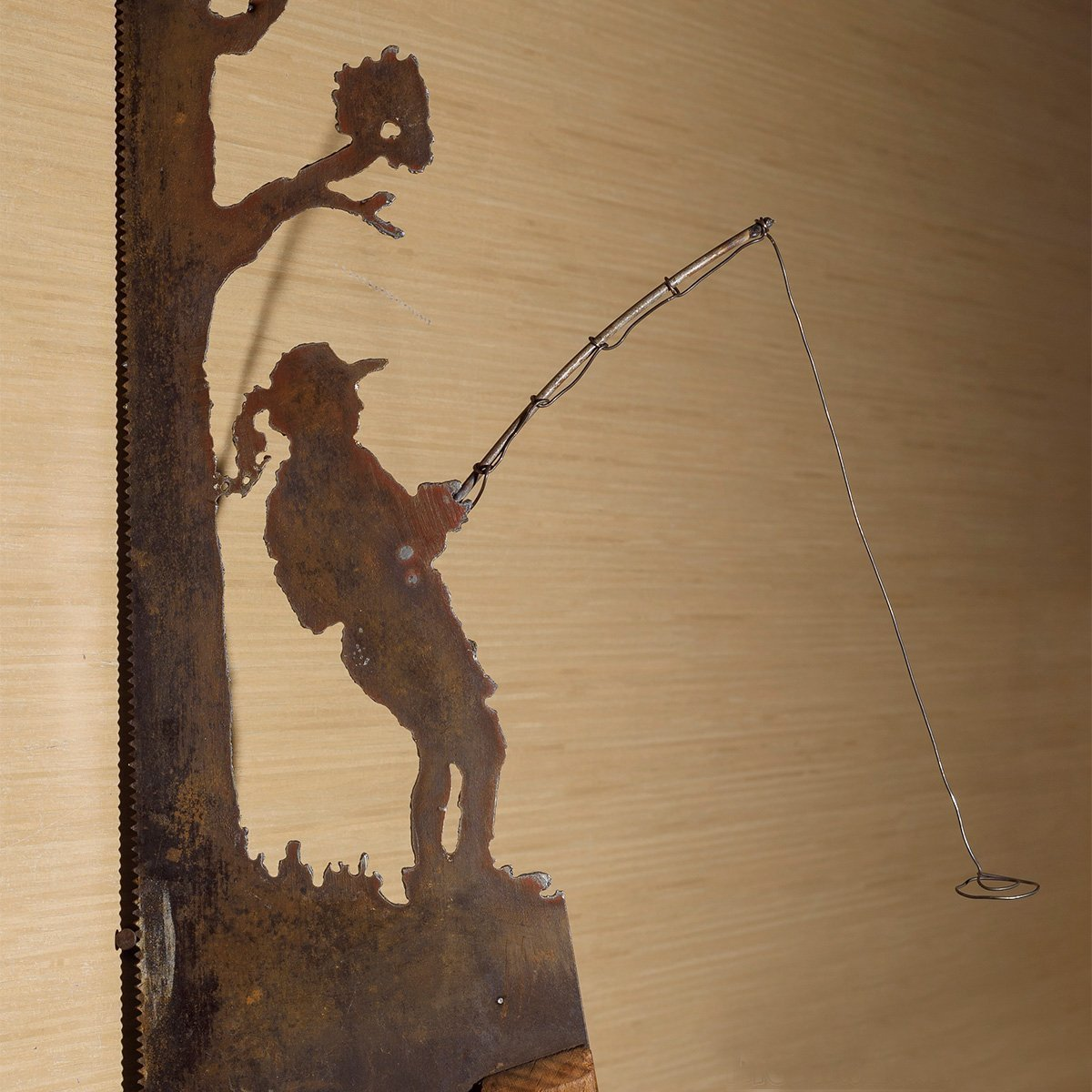 Amazon.com  Metal Art Rustic plasma cut Young Girl or Boy Fishing near a  tree hand saw wall decor - Made to Order plasma cut metal art 0832fc5f3
