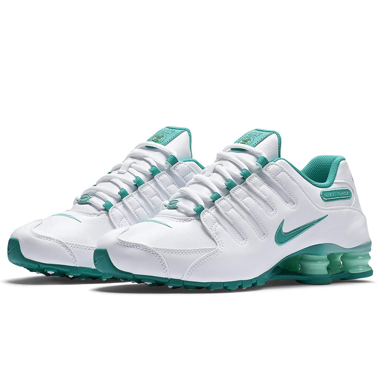 885235efde6 NIKE Shox NZ EU 488312-109 White Artisan Teal Light Retro Women s Running  Shoes Size  3.5 UK  Amazon.co.uk  Shoes   Bags