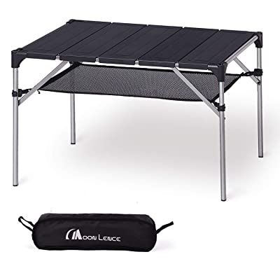 MOON LENCE Lightweight Portable Camping Table Compact Outdoor Aluminum Folding Table for Picnic Climbing: Sports & Outdoors