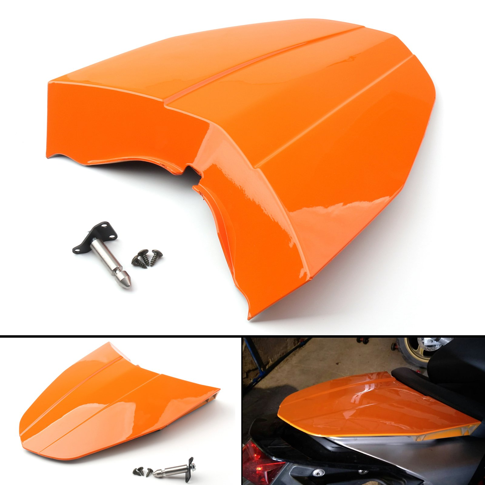 Areyourshop Orange ABS Rear Tail Solo Seat Cover Cowl Fairing For 2013-2015 KTM 690 DUKE