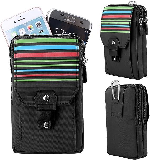 Leather Vertical Man Cellphone Belt Loop Holster Crossbody Case Mini Waist Bag