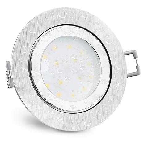 IP44 /& Feuchtraum /& Bad /& Innen /& Aussen 5W 230V SMD LED Einbauspot Marina