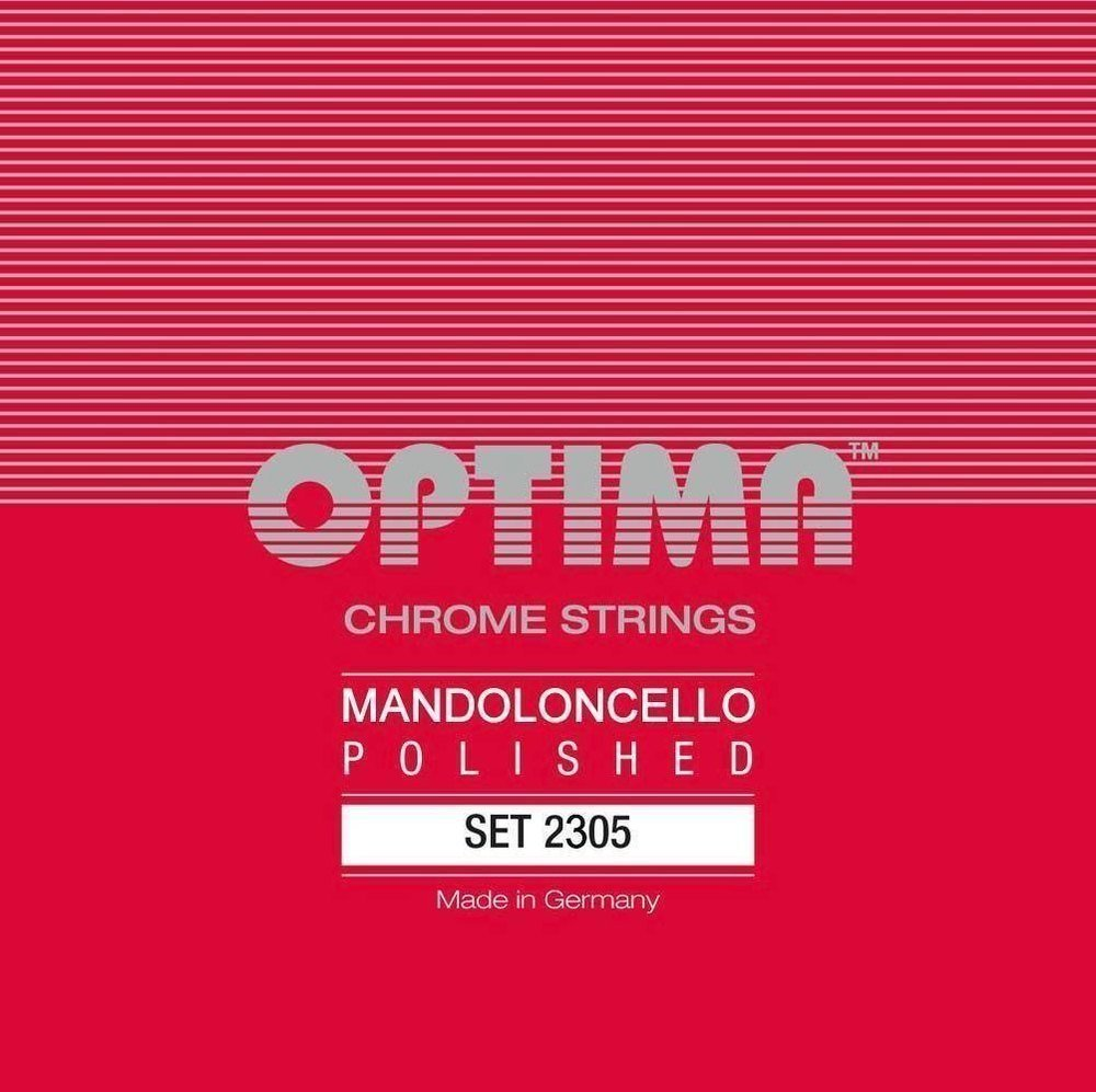 Optima 2305 Mandocello CHROME Strings polished Set