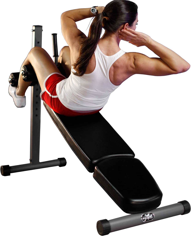 XMark Adjustable Decline Ab Workout Bench for Sit Ups