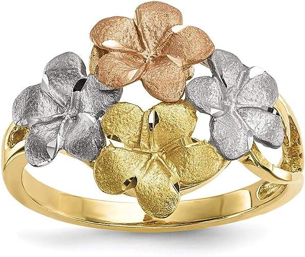 Mia Diamonds 14k Yellow GoldY HI Large State Earring