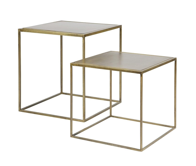 Couchtisch Beistelltisch Tisch Metallic Wohnzimmertisch Set Design