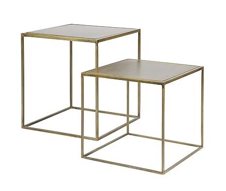 Couchtisch Beistelltisch Tisch Metallic Wohnzimmertisch Set Design Antik Messing Inklusive Aktueller Wohnzeitschrift