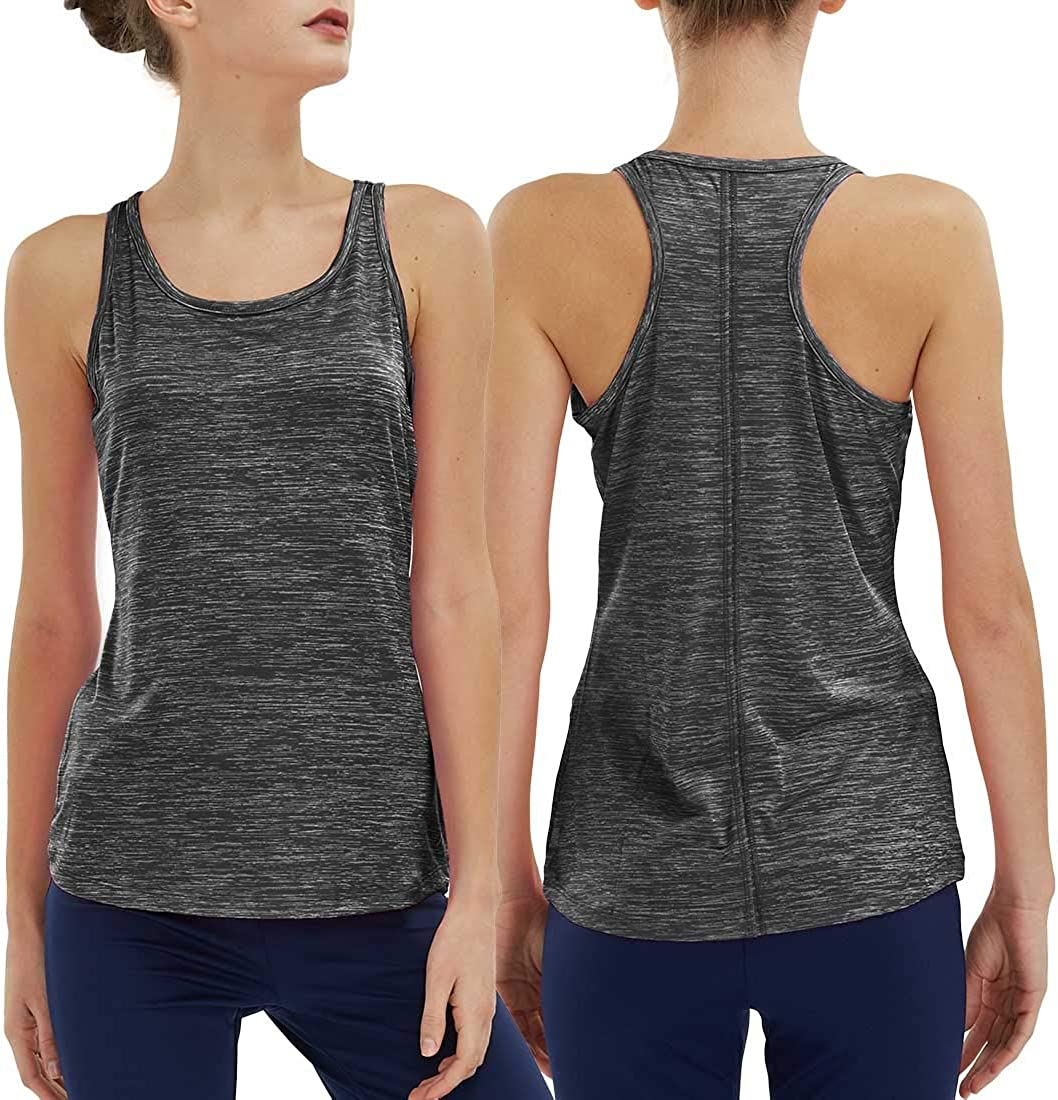 SPECIALMAGIC Women Sports Tank Top 2 Pack Workout Shirt Sleeveless Athletic Tops Quick Dry for Running