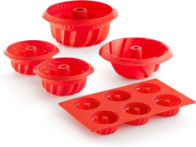Lékué Savarín Espiral, Silicona, Rojo, 20 cm: Amazon.es: Hogar