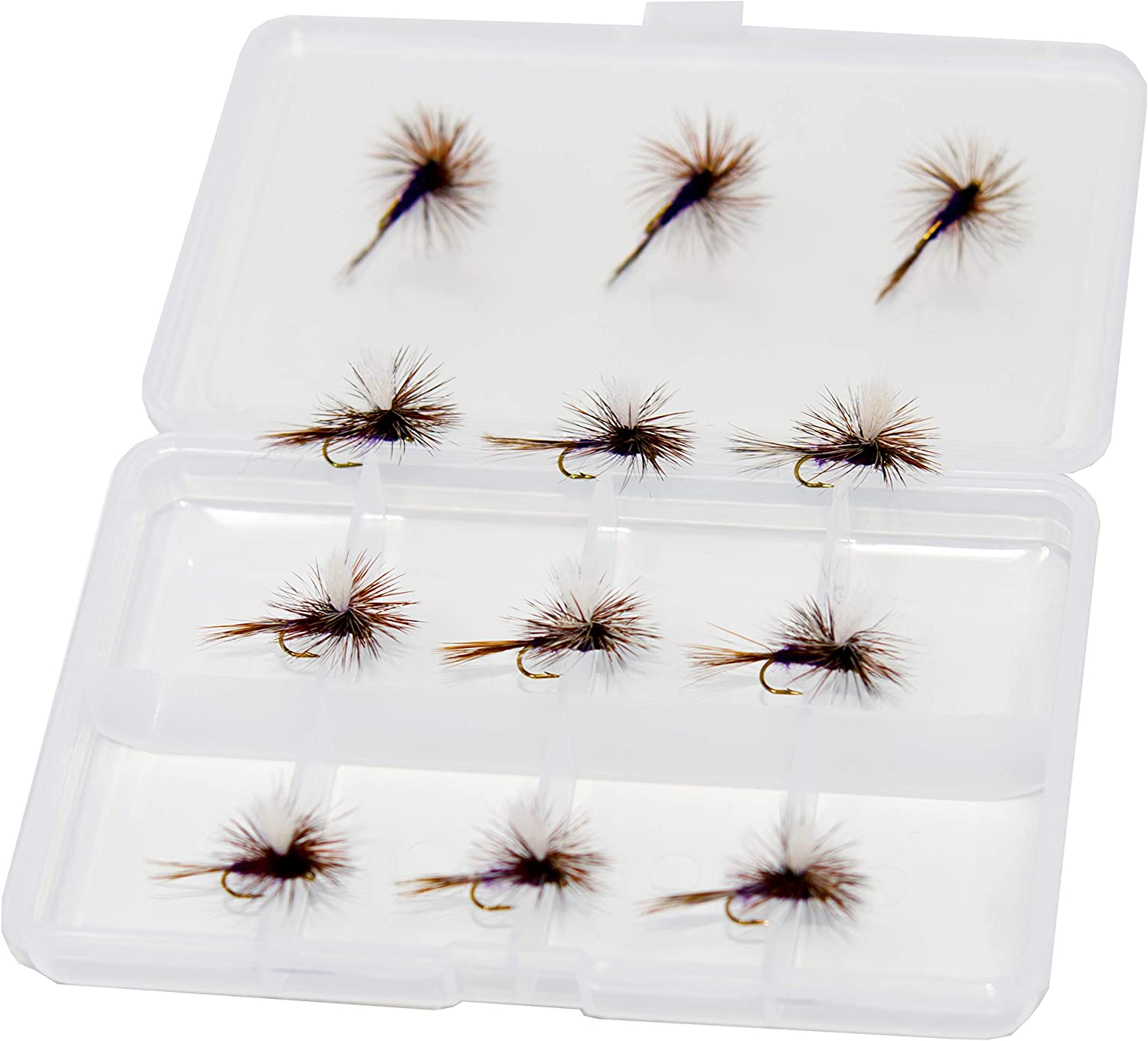 6 PCS For CDC May Fly Trout Fishing Dry Flies 12# Hooks Lure Fishing Barbed P7U1