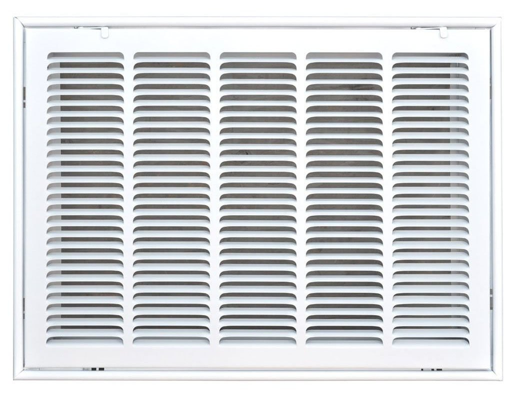 Speedi-Grille SG-2016 FG 20-Inch by 16-Inch White Return Air Vent Filter Grille with Fixed Blades