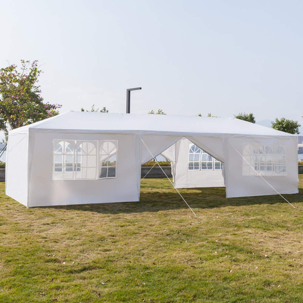 Teekland 10'x30' Outdoor Canopy Party Wedding Tent,Sunshade Shelter,Outdoor Gazebo Pavilion with 8 Removable Sidewalls Upgraded Thicken Steel Tube (10' x 30' / 8 Removable Sidewalls-1) by Teekland (Image #4)