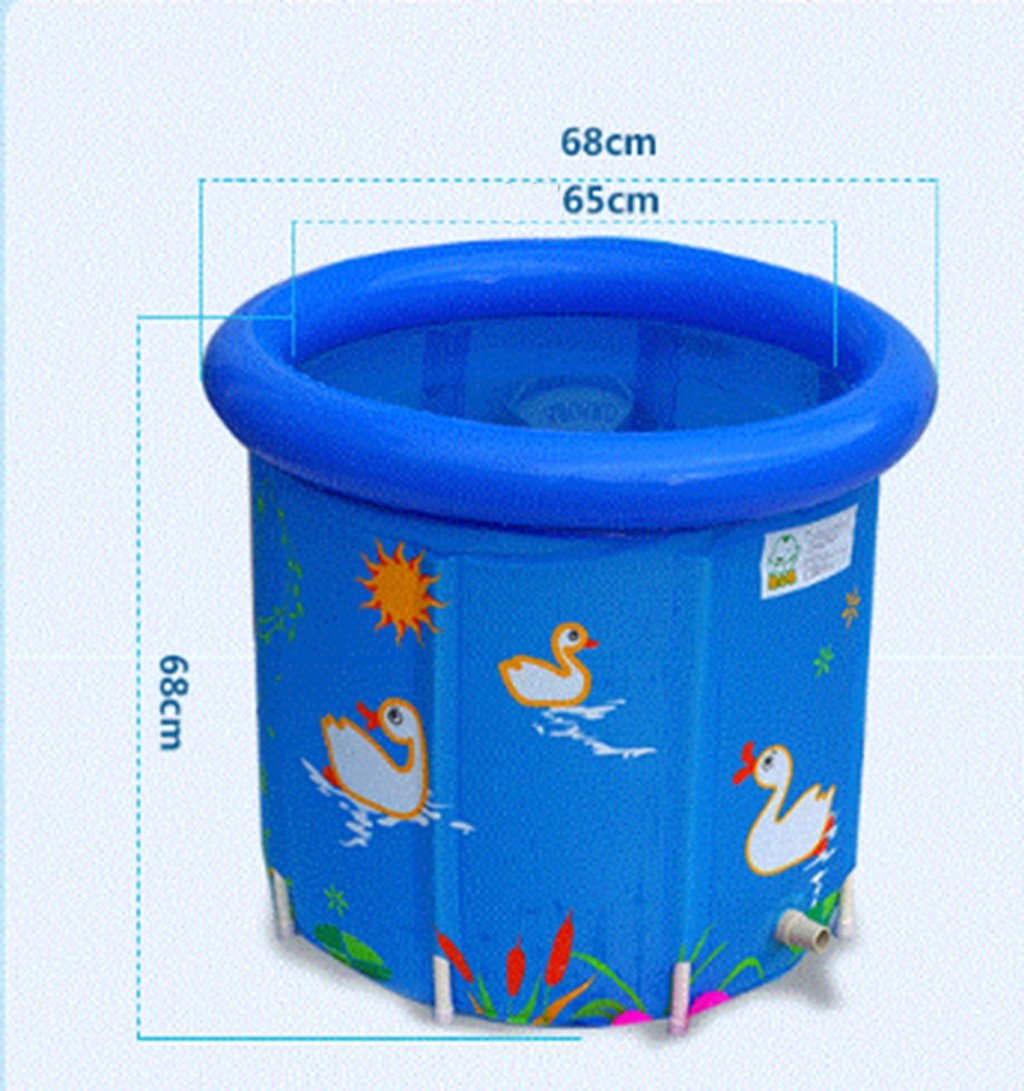 JPYG Inflatable Bathtub,Child Collapsible Bathbarrel Household Keepwarm Plastic Bathtub Portable (Color : #2) by JP bathtub (Image #2)