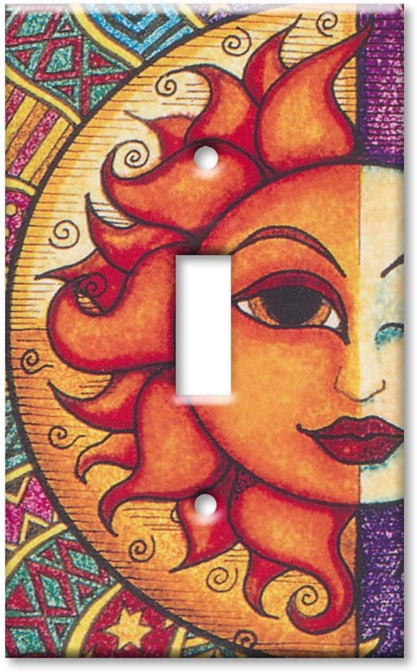 Art Plates - Single Gang Toggle OVERSIZE Switch Plate/OVER SIZE Wall Plate - Sun - Image by Dan Morris