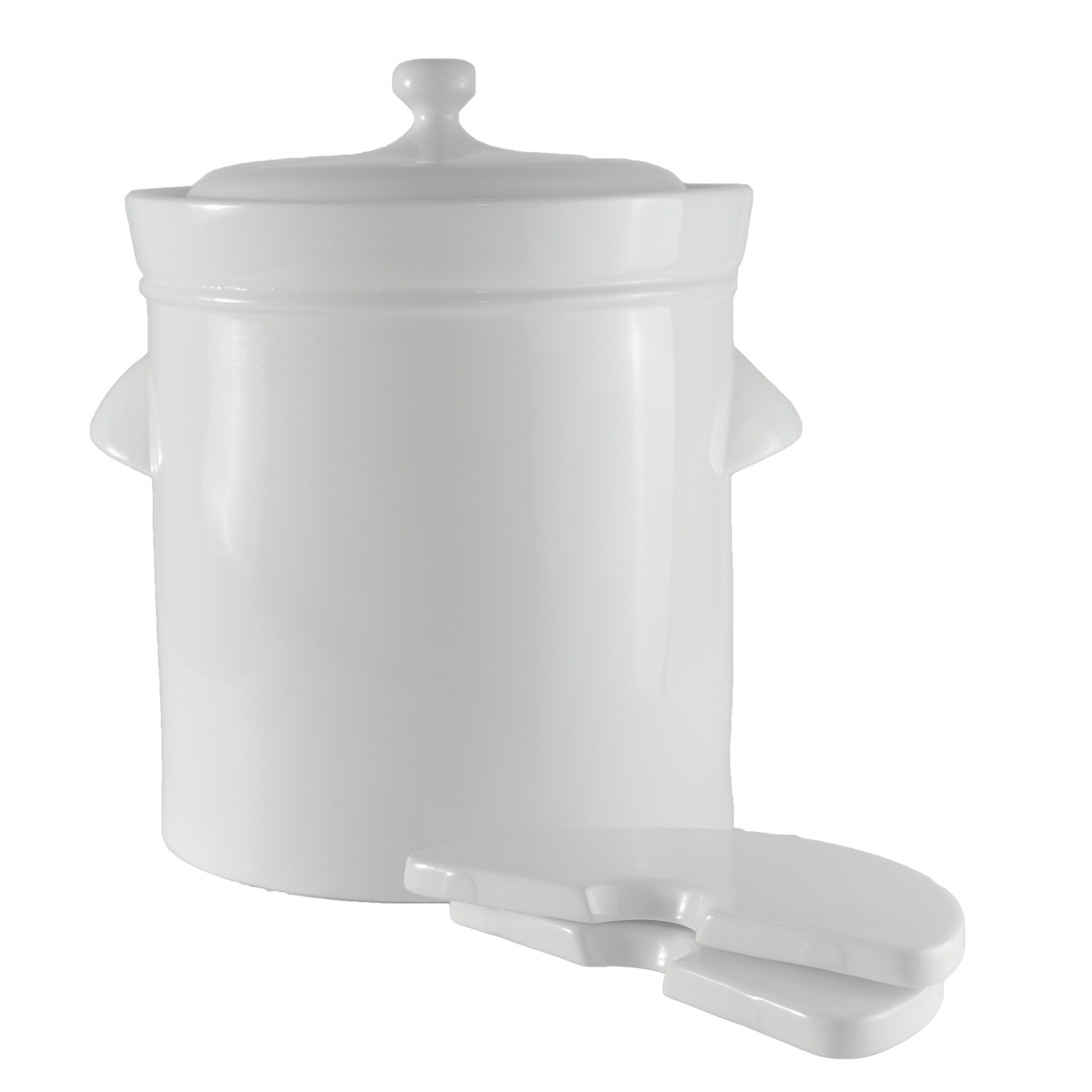 Cultured Sense 10 Liter Fermentation Crock for Sauerkraut, Pickles, Kimchee and More! Includes Weights and Lid