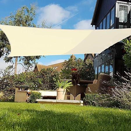 E.enjoy Malla Sombra De Red Sombra De Sun Vela Jardín Al Aire Libre Patio Fiesta Protector Solar Toldo Pabellón 98% Bloque UV Crema Cuadrada Ventilación Permeable (Size : 400cmX400cm): Amazon.es: Hogar
