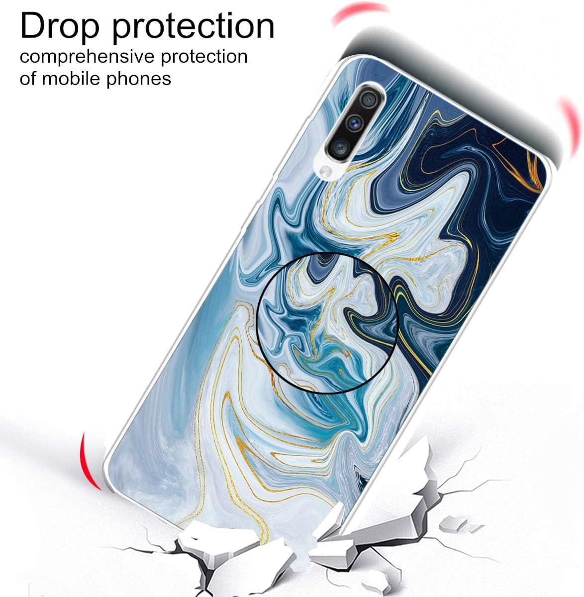 Multi-function Halterung TPU Soft D/ünn Marmor Gemalt Sto/ßstange Silikon Handyh/ülle for Samsung Galaxy A70 Standfunktion-Color 12 Huphant Kompatibel mit Samsung Galaxy A70 H/ülle Silikon Case