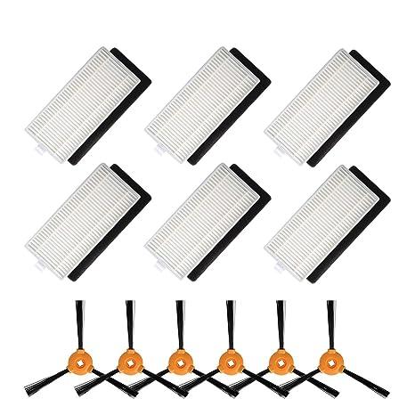 Filter+Sponge+2*Side Brushes For Ecovacs DEEBOT N79 DEEBOT N79S Vacuum Cleaner