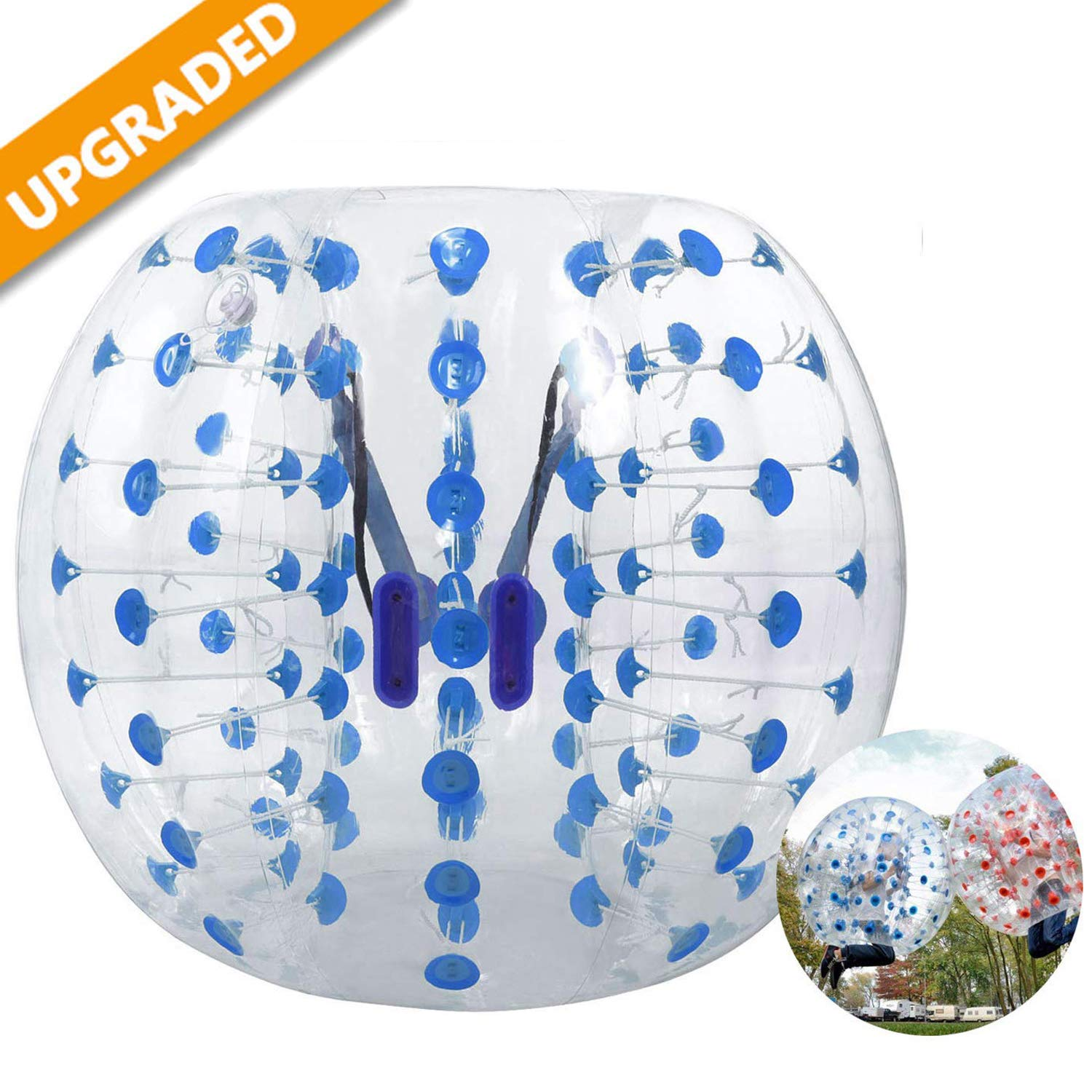 Hurbo Inflatable Bumper Ball Bubble Soccer Ball Giant Human Hamster Ball for Adults and Kids (Blue Dot) by Hurbo