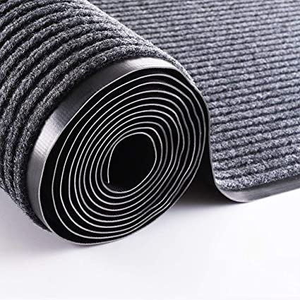 ybaymy Rubber Backed Hallway Runner 90x300cm PVC Edged Dirt Stopper Washable Door Barrier Mat Kitchen Floor Carpet Matting Non-Slip Striped Rugs for Home Office Indoor Outdoor Use(Black): Amazon.co.uk: Kitchen & Home
