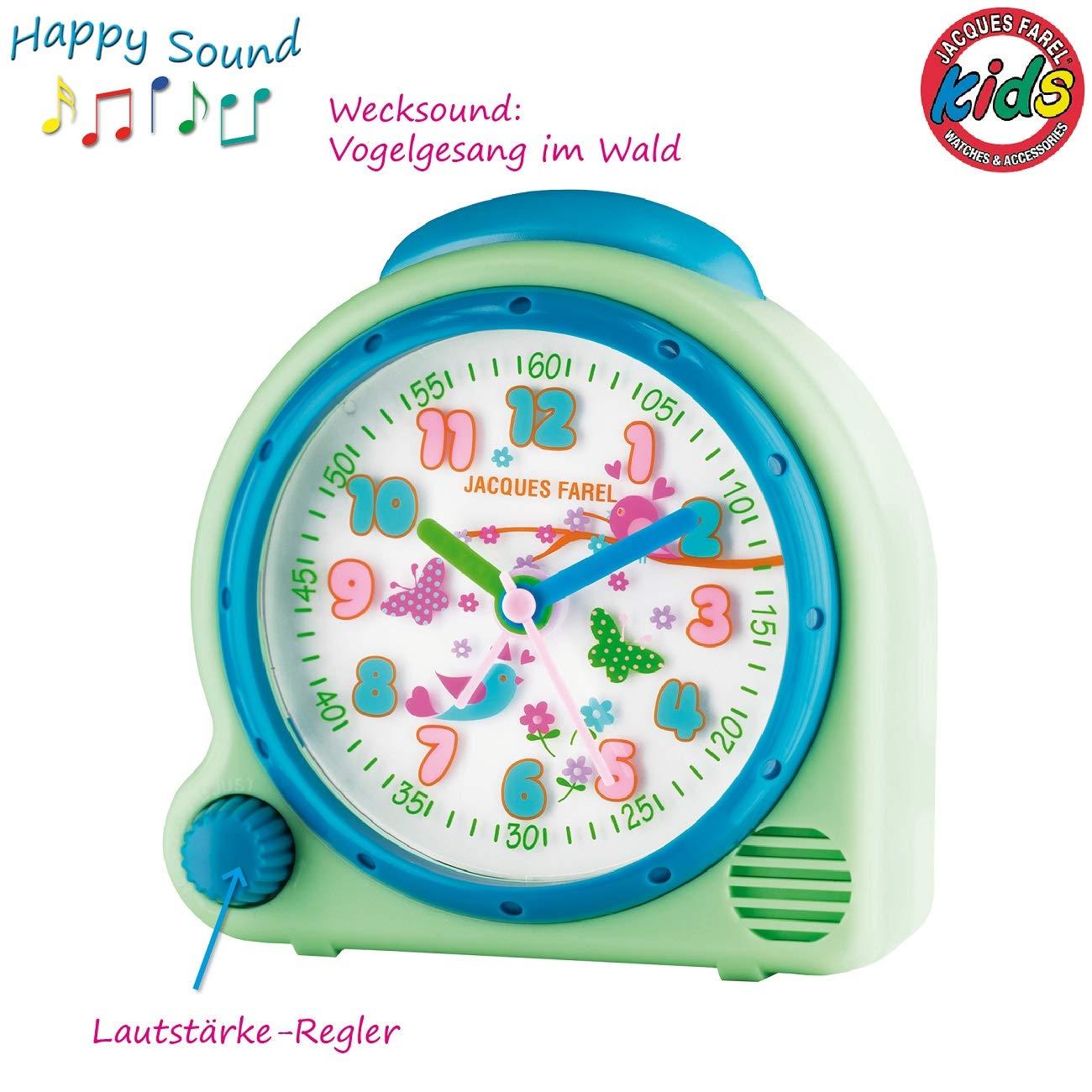 Lautst/ärkeregelung AVC 16FOREST JACQUES FAREL HappySound Kinderwecker mit Melodie Vogelgesang im Wald