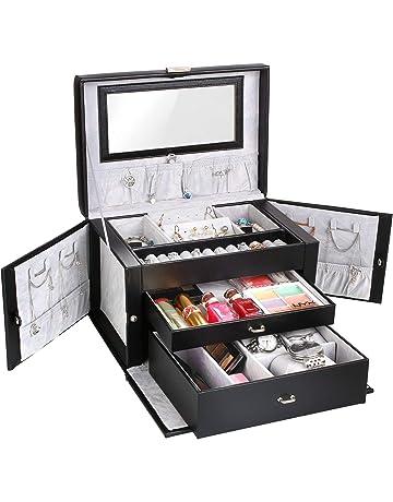 ALIKEY Mallette Maquillage avec Miroir 3/étages Mallette /à Maquillage Grande Taille Bo/îte de Rangement Vanity Case Or-Ros/é