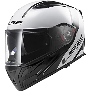 LS2 Helmets Metro Rapid Modular Motorcycle Helmet with Sunshield (White, X-Small)