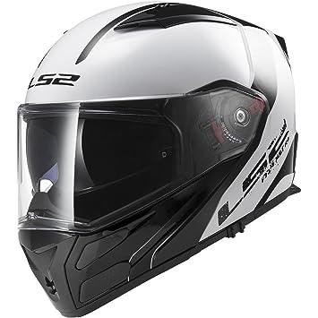 LS2 Casco Modular Motocicleta Casco Sólido de metro con cámaras de seguridad y montaje