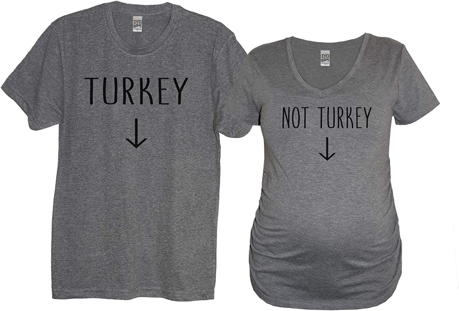 Turkey Crew Neck or Not Turkey Maternity Couples Tri-Blend Shirts (Sold Separately)