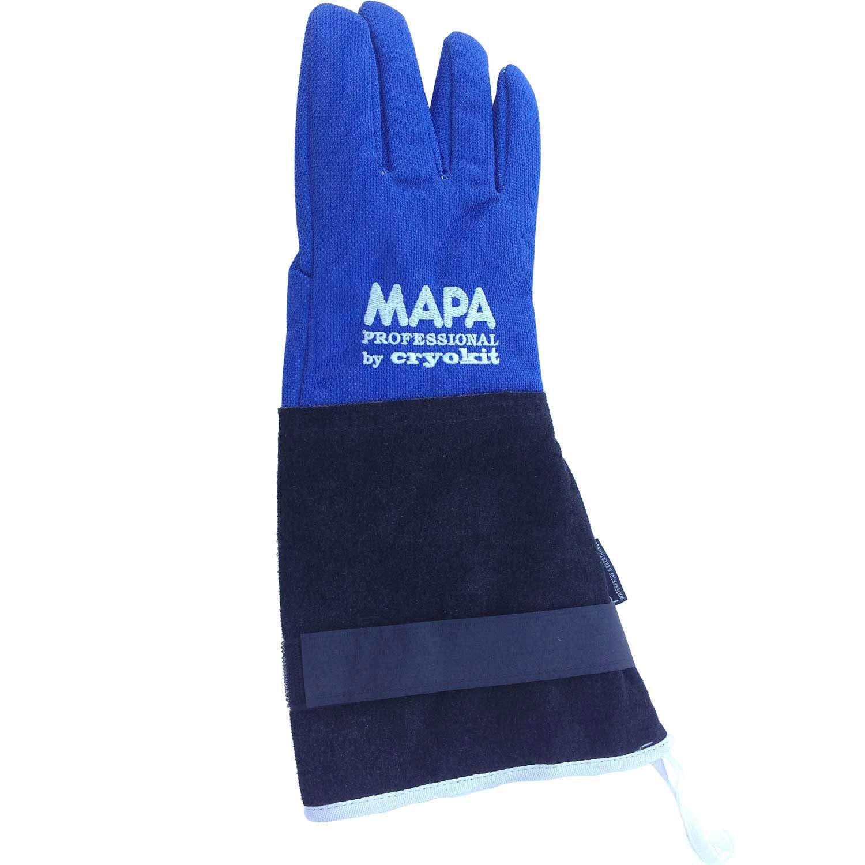 MAPA Professional CRYPLS203808 CRYOPLUS-2.0 Cryogenic Glove, (15''-LA), Size 8, PR 1, Blue