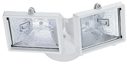 Lithonia Lighting Oftm 300q 120 Lp Wh M6 Mini Twin Head Flood Light 150 Watt Double Ended Quartz Halogen Lamps
