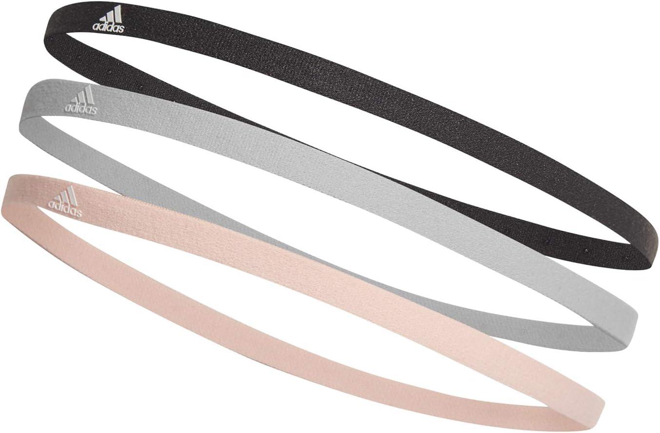 adidas Lot de 3 Bandeaux Taille Unique CarbonGrey OneClear