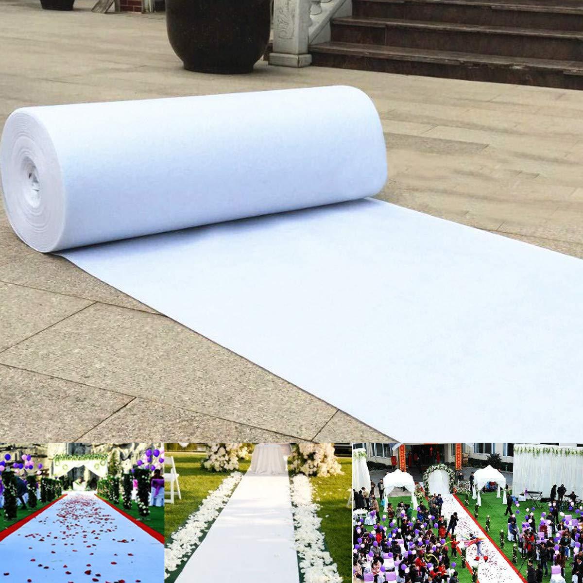 KDFHGLA 白いウェディングカーペット通路のランナーの床の結婚式の花嫁のイベント5のサイズ (Color : Color White, Size : Size 1m*22.5m) B07N5J8CGQ Color White Size 1m*22.5m