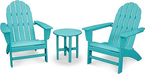 POLYWOOD Vineyard 3-Piece Adirondack Chair Set