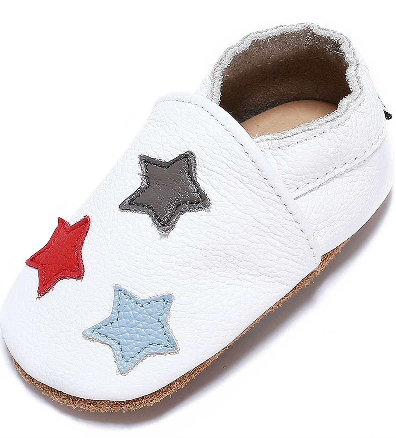 Mevimoi Unisex Soft Leather Baby Shoes ME-004