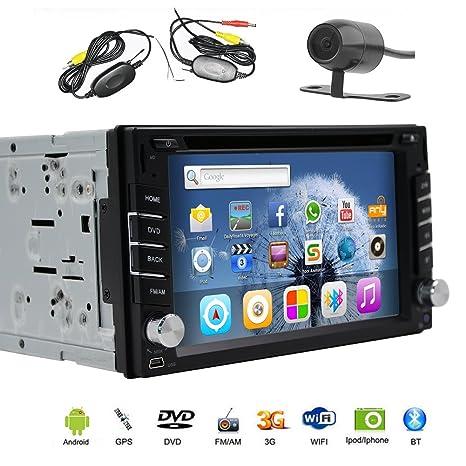 2 Din Android 4.4 KitKat estšŠreo del coche universal DVD GPS Navigation 2Din radio DVD reproductor de audio WiFi incorporado ayuda OBD DVR: Amazon.es: ...