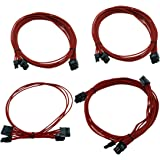EVGA Red 1600 G2/P2/T2 Additional Power Supply Cable Set, Individually Sleeved (100-CR-1600-B9)