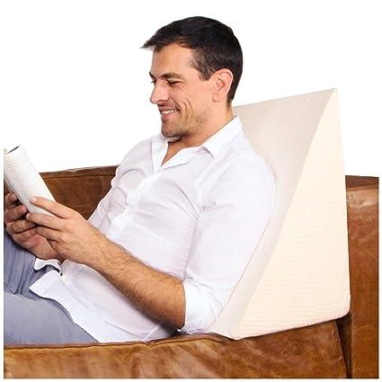 Purovi® Cuscino a Cuneo per letto e divano | Supporto lombare ...