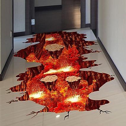 Amazon quanhaigou a volcano spouts flame and lava wall decals quanhaigou a volcano spouts flame and lava wall decals removable red sticker the art ccuart Gallery